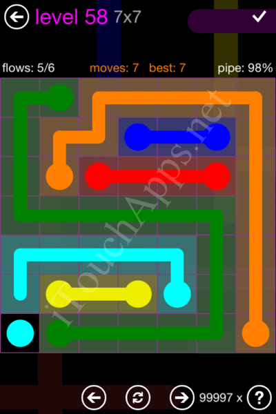 Flow Game 7x7 Mania Pack Level 58 Solution