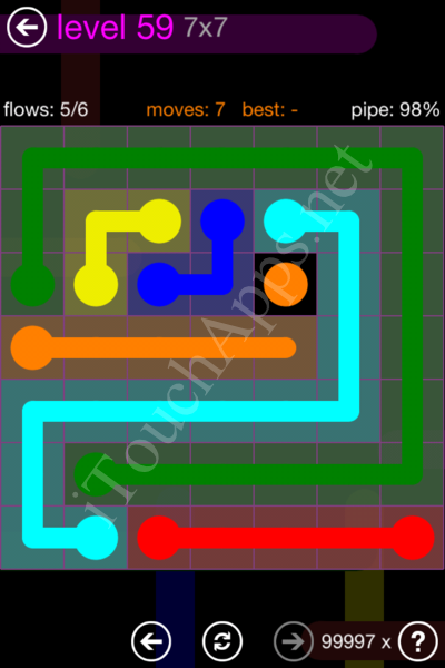 Flow Game 7x7 Mania Pack Level 59 Solution