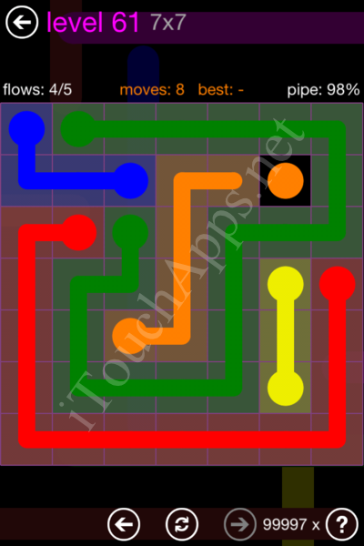 Flow Game 7x7 Mania Pack Level 61 Solution