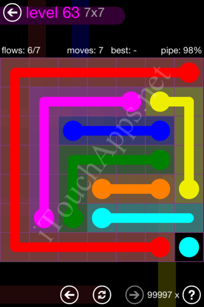 Flow Game 7x7 Mania Pack Level 63 Solution
