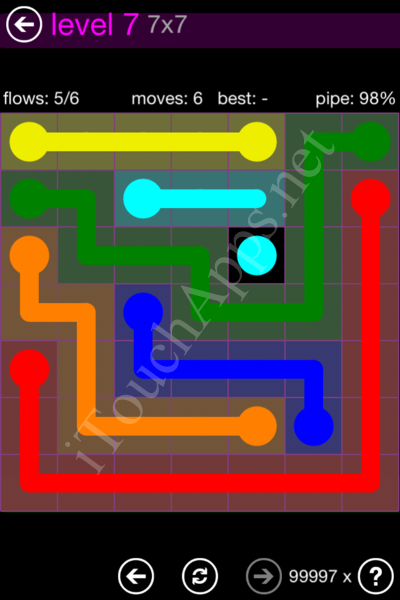 Flow Game 7x7 Mania Pack Level 7 Solution