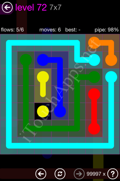 Flow Game 7x7 Mania Pack Level 72 Solution