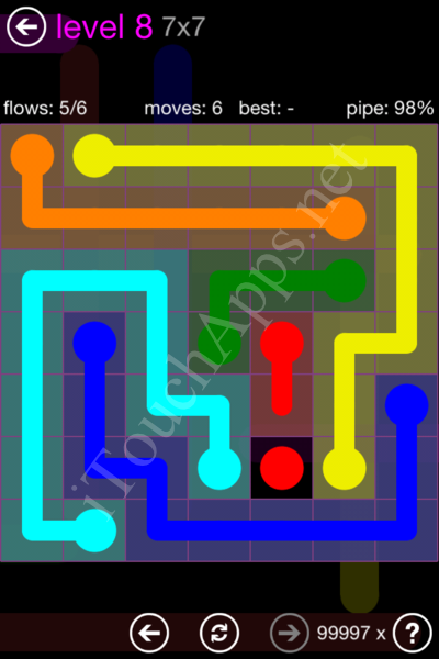 Flow Game 7x7 Mania Pack Level 8 Solution