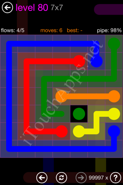 Flow Game 7x7 Mania Pack Level 80 Solution