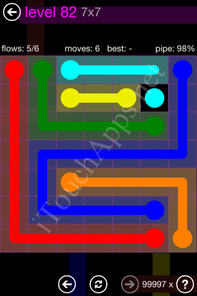 Flow Game 7x7 Mania Pack Level 82 Solution