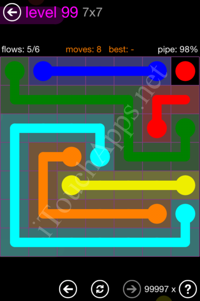 Flow Game 7x7 Mania Pack Level 99 Solution
