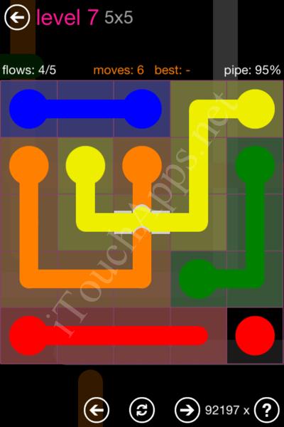 Flow Bridges Classic Pack 2 5x5 Level 7 Solution