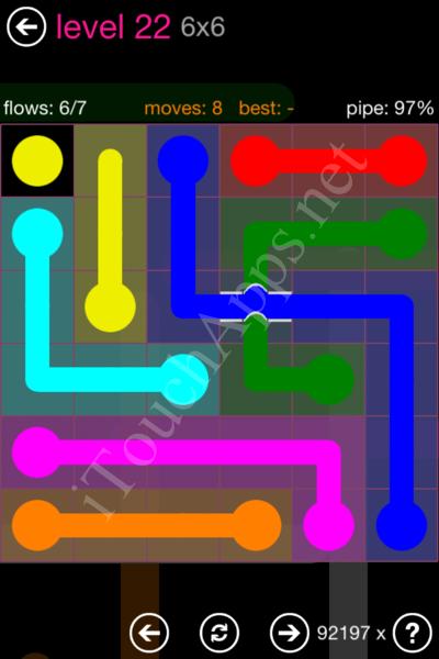 Flow Bridges Classic Pack 2 6x6 Level 22 Solution