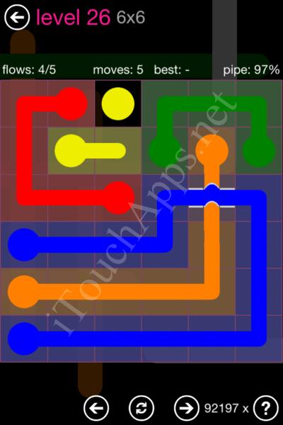 Flow Bridges Classic Pack 2 6x6 Level 26 Solution