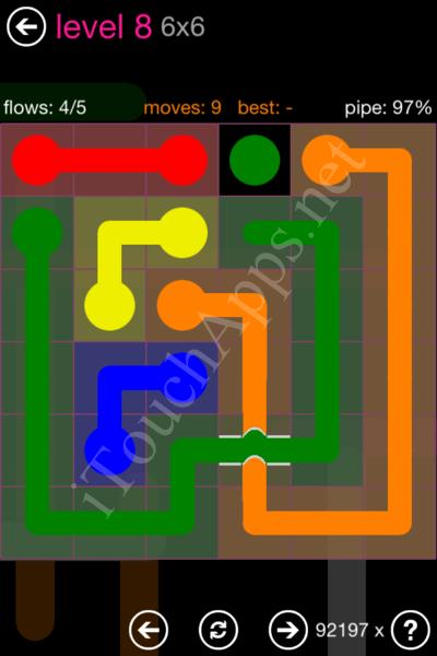 Flow Bridges Classic Pack 2 6x6 Level 8 Solution