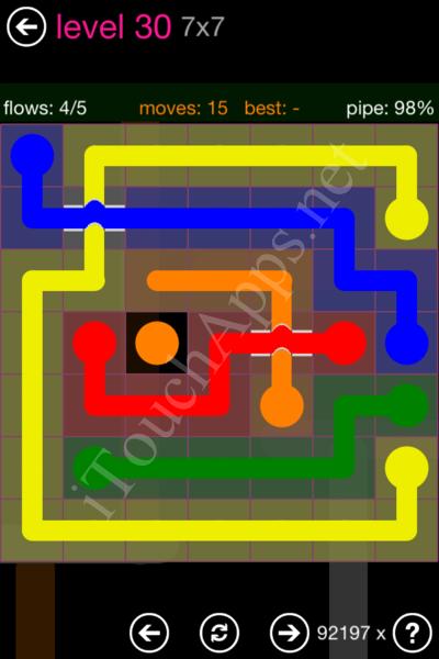 Flow Bridges Classic Pack 2 7x7 Level 30 Solution
