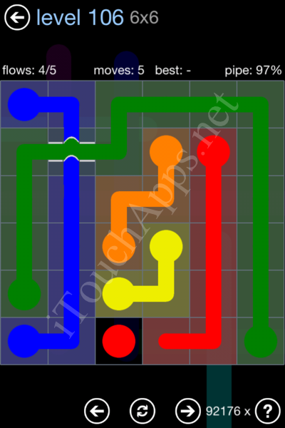 Flow Bridges Rainbow Pack Level 106 Solution