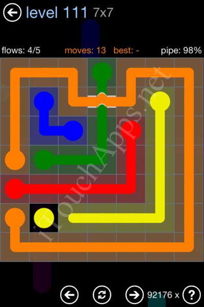 Flow Bridges Rainbow Pack Level 111 Solution