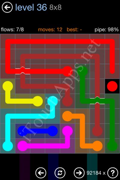 Flow Bridges Rainbow Pack Level 36 Solution