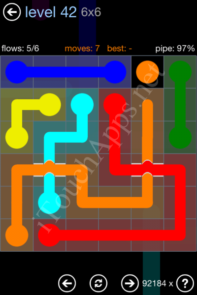 Flow Bridges Rainbow Pack Level 42 Solution