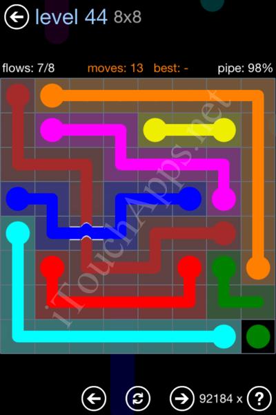 Flow Bridges Rainbow Pack Level 44 Solution