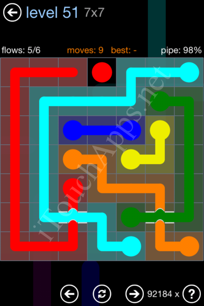 Flow Bridges Rainbow Pack Level 51 Solution