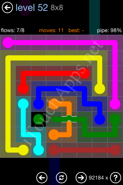Flow Bridges Rainbow Pack Level 52 Solution