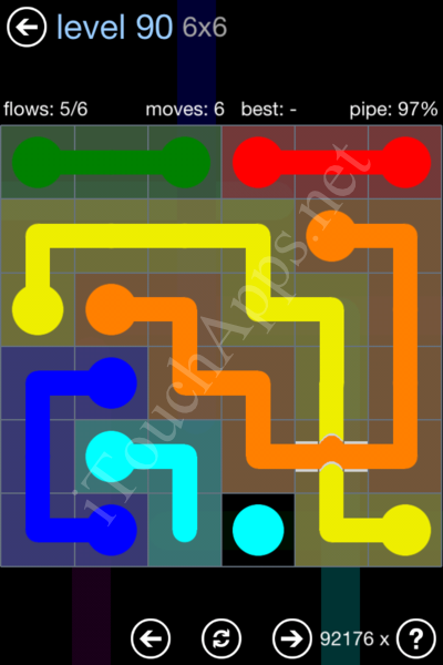 Flow Bridges Rainbow Pack Level 90 Solution