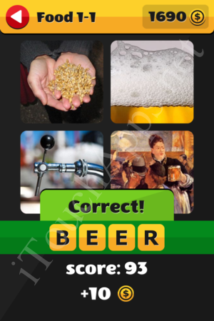 What's That Word Food and Drinks Level 1-1 Solution