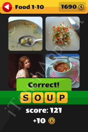 What's That Word Food and Drinks Level 1-10 Solution