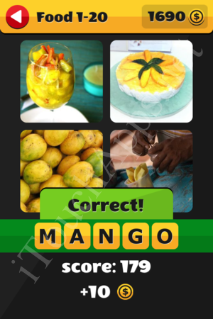 What's That Word Food and Drinks Level 1-20 Solution