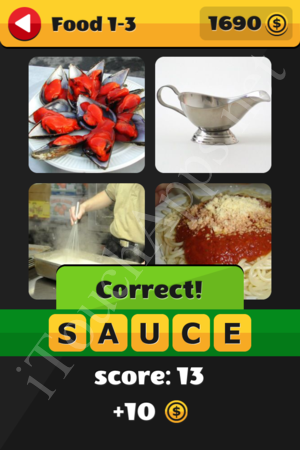 What's That Word Food and Drinks Level 1-3 Solution
