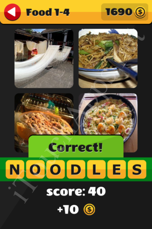 What's That Word Food and Drinks Level 1-4 Solution