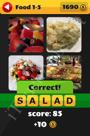 What's That Word Food and Drinks Level 1-5 Solution