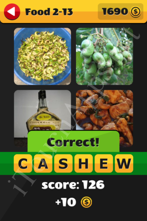 What's That Word Food and Drinks Level 2-13 Solution