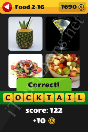 What's That Word Food and Drinks Level 2-16 Solution