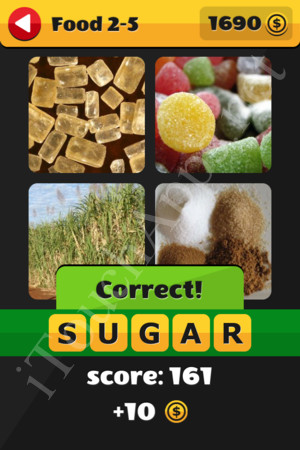 What's That Word Food and Drinks Level 2-5 Solution