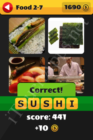 What's That Word Food and Drinks Level 2-7 Solution