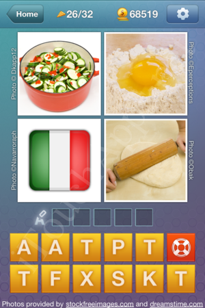 What's the Word Food and Cooking Level 26 Solution