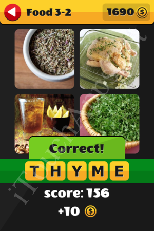 What's That Word Food and Drinks Level 3-2 Solution