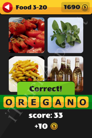What's That Word Food and Drinks Level 3-20 Solution