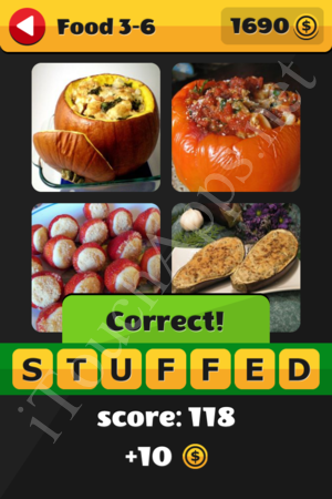 What's That Word Food and Drinks Level 3-6 Solution