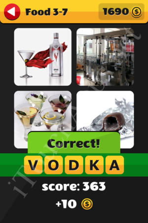 What's That Word Food and Drinks Level 3-7 Solution