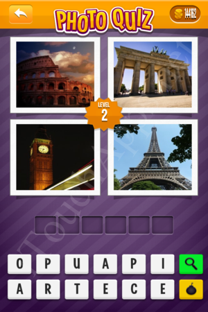 Photo Quiz Geography Pack Level 2 Solution