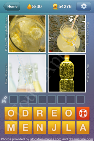 What's the Word Liquids Level 8 Solution
