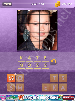 Who's the Celeb Level 114 Answer
