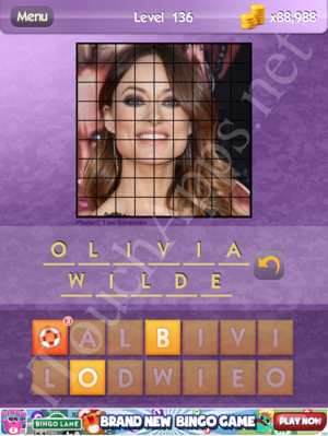 Who's the Celeb Level 136 Answer