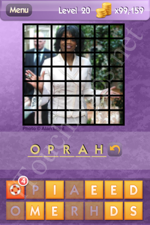 Who's the Celeb Level 20 Answer