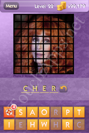 Who's the Celeb Level 22 Answer