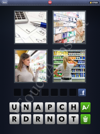 4 Pics 1 Word Level 582 Solution