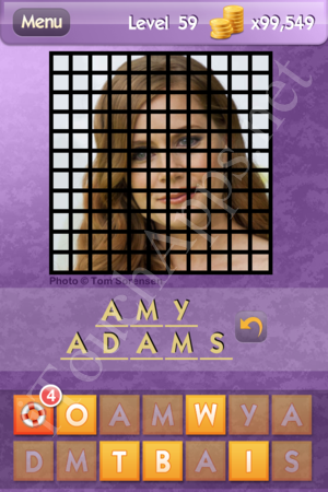 Who's the Celeb Level 59 Answer