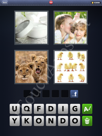 4 Pics 1 Word Level 599 Solution