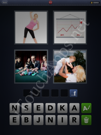 4 Pics 1 Word Level 612 Solution