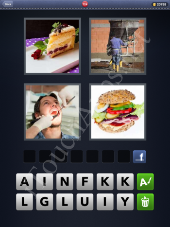 4 Pics 1 Word Level 724 Solution