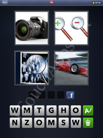 4 Pics 1 Word Level 726 Solution